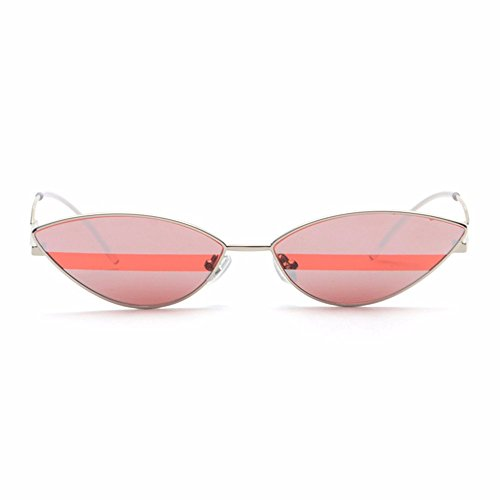 LXKMTYJ Two-Color Sunglasses Stylish Avant-Garde Men And Women Small Sunglasses Color Stripes