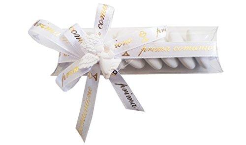Irpot - kit 20 porta confetti prima comunione 05210 + gessetti + bigliettini + nastrino (angioletto 1090329)
