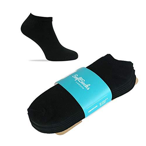 SoftSocks SNEAKER LOW CUT Calcetines para mujeres, hombres y adolescentes, varios tamaños, 6 pares...