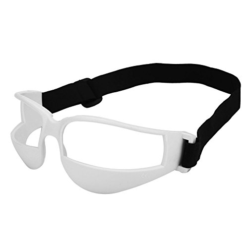 Alomejor 1Basketball Trainings Brillen Dribbeln Ausbildung Kopf bis Basketball Brillen praktischer Sport Eyewear mit Verstellbarem Band, weiß
