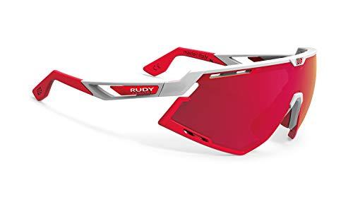 Rudy Project Gafas Bicicleta Defender Color Blanco Brillante Bumpers Rojo Multilaser