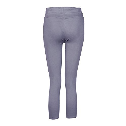 HKFV - Leggings sportivi -  donna Grey XXXXL