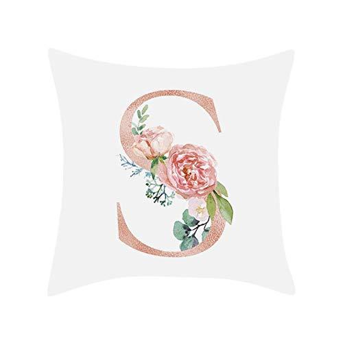 linyiming-kaodianop-1 HSU Dekorative Kissen für Sofa Brief Kissen Alphabet Kissen Druck für Sofa Dekoration Blume Kissen Coussin decoratif, S,