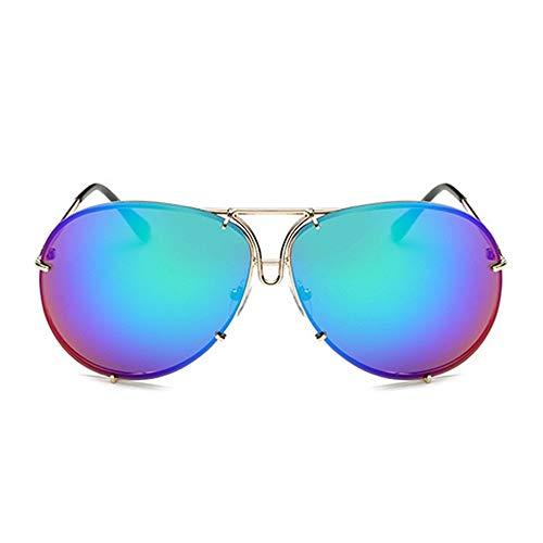 LAMAMAG Sonnenbrille Frauen Männer Übergroße Sonnenbrille Superstar Weiblich Männlich Spiegel Sonnenbrille Kim Kardashian Gafas De Sol, F