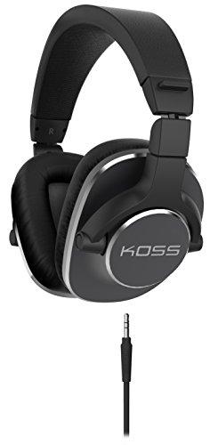 Koss Pro 4S Dynamischer Studio Kopfhörer mit Drehbaren Ohrmuscheln aus Memory-Foam Kompatibel mit iPhones, Android Smartphones, iPads, Tablets und MP3 Geräten - Schwarz (Videos Für Android-tablets)