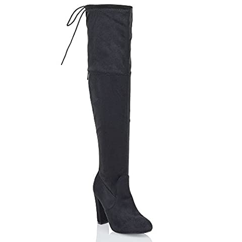 NEW WOMENS THIGH HIGH BOOTS LADIES OVER THE KNEE STRETCH