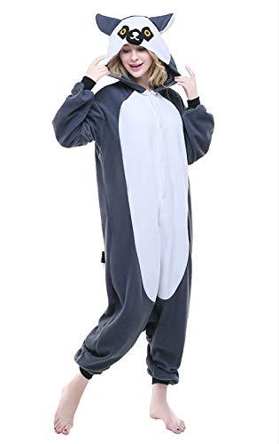 AGOLOD Unisex Erwachsene Tier Fleece Pyjamas Kigurumi für Halloween ()