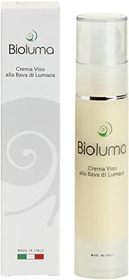 Bioluma Bava di Lumaca Crema Viso Idratante Nutriente Antiage con Acido Ialuronico Collagene Vitamine Pelle Se