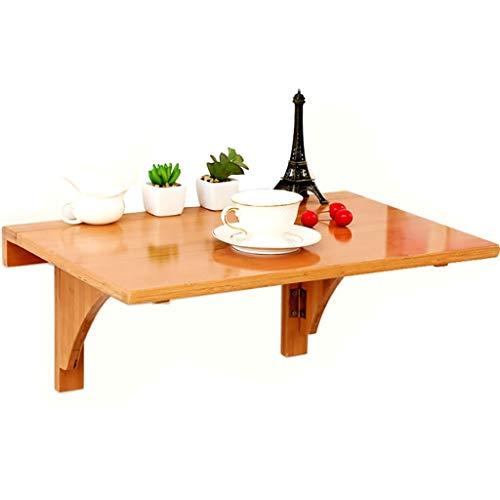 GAIQIN Dauerhaft Klapptisch aus Bambus – Laptop-Schreibtisch an der Wand – Einfacher Schreibtisch – Starke Tragfähigkeit