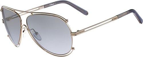 Chloè Damen CE121S 744 61 Sonnenbrille, Gold-Grey