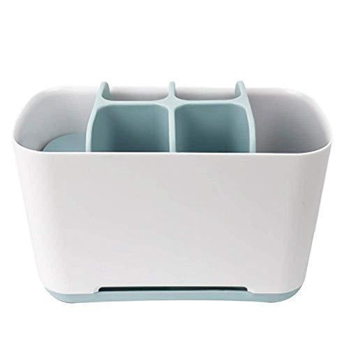 Zahnbürstenhalter Kunststoff Multifunktions Zahnbürstenhalter Bad Zahnbürstenhalter Küche Aufbewahrungsbox Toilettenartikel Zahnpasta Aufbewahrung, Golden_flower, Blau