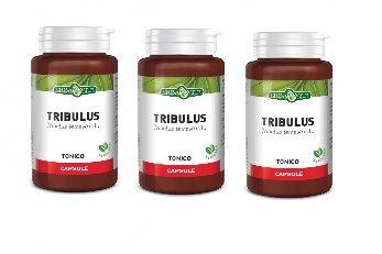 ERBA VITA - TRIBULUS TERRESTRIS 3 CONFEZIONI DA 60 CPS DA 500 MG - azione tonica e di sostegno metabolico - [KIT CON SAPONETTA NATURALE QUIZEN IN OMAGGIO]