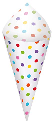 tztüten Paper Minis mit Halterung, Regenbogenfarben ()
