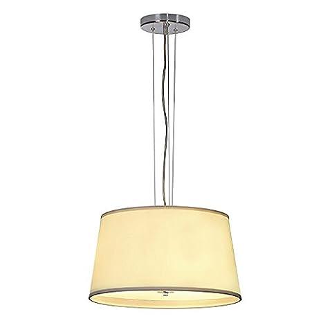 F.N. Pendant lamp Rosette nickel brushed, Acrylglas satiniert, beige