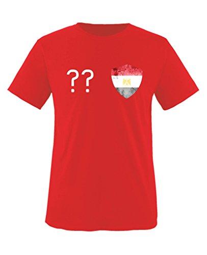 Kleider Fun Island (Comedy Shirts - Ägypten Trikot - Wappen: Klein - Wunsch - Kinder T-Shirt - Rot / Weiss Gr. 86-92)