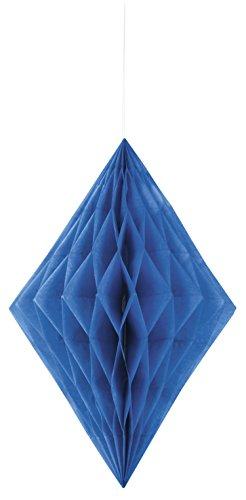 Unique Party 62987 - Diamant Décoratif en Papier de Soie - 35 cm - Bleu Roi