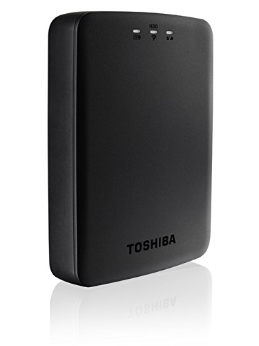 Toshiba HDTU110EKWC1 Canvio AeroCast - Disco duro externo de 1 TB (USB 3.0, WiFi)