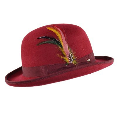 High Quality Hard Top 100% Wool Bowler Hat WITH Feather - Satin Lined - Sizes  S to XL - Buy Online in Oman.  fb09e2539b5f