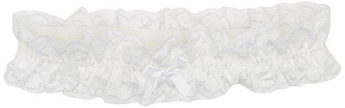 Glamory Damen Strumpfhose Garter Strumpfband-Weiss-Einheitsgröße, 100 Den, Weiß (Weiss G-50375), One Size (Spitzen-strumpfhose Weiße)