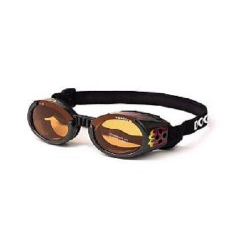 Doggles ILS-Hundeschutzbrille Sonnenbrille Flamme Rahmen/ orange Linse Klein