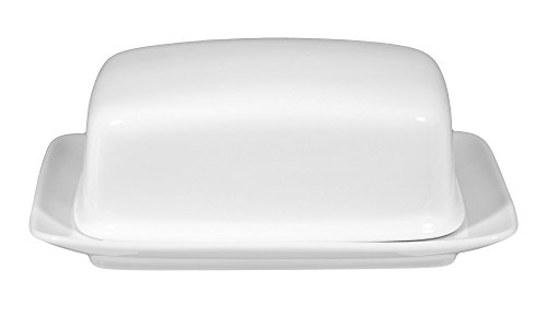 Butterdose 17,3 cm Compact white uni 00007 8 Stück von Seltmann Weiden - Butterdose Compact