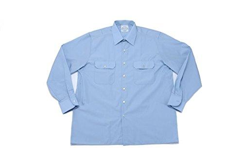 feuerwehrhemd Originales langärmliges oder kurzärmliges Diensthemd der Deutschen Bundeswehr Securityhemd Farbe Hellblau Größen 2-7 (3 (39/40), Langarm)