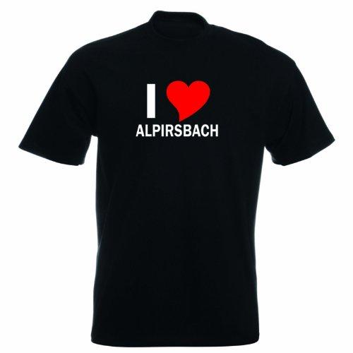 T-Shirt mit Städtenamen - i Love Alpirsbach - Herren - unisex Schwarz