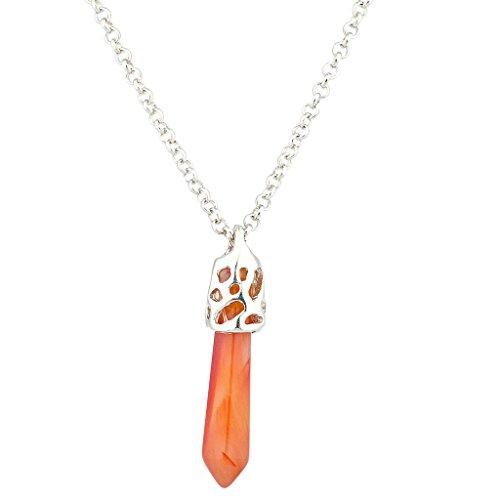 LUX accesorios naranja cristal ágata Chakra espiritual protección am
