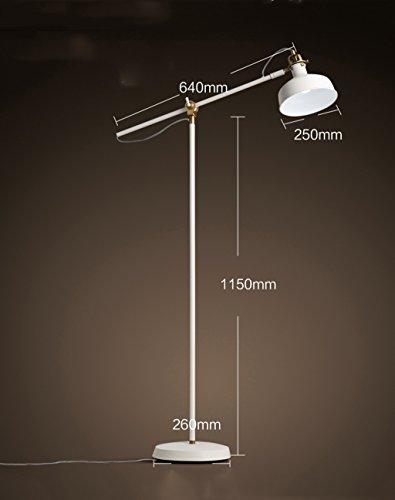 ZENGAI Moderne Fischen-Fußboden-Lampen-lange Arm-justierbare Beleuchtung-Schlafzimmer-Wohnzimmer-Büro-vertikale Tabellen-Lampen-Fußboden-Licht mit Lichtquelle ( Farbe : Weißes Licht ) (Halogen-licht Justierbares)
