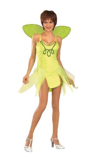 Tinkerbell Kostüm Adult - Rubie's Adult Tinkerbell Kostüm. Kleid und Flügel. Eine Größe 38-40.
