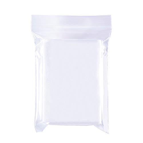 BENECREAT 200 Pack Bolsas Transparente Cierre 7x10cm