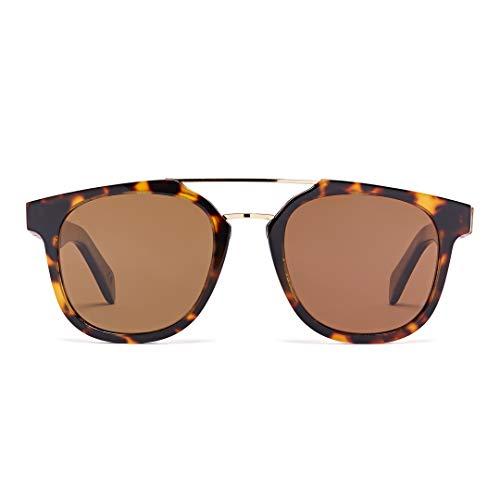 Bonizetti Unisex-Holz-Sonnenbrille Barcelona Casa Mila UV 400 136mm