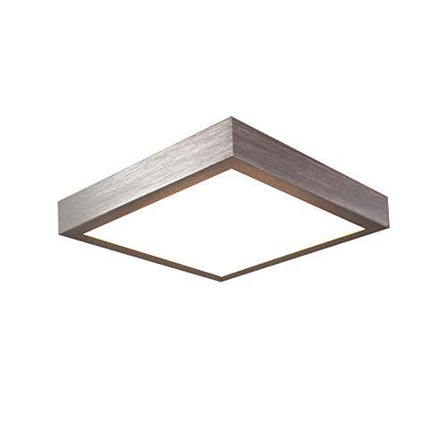 16W LED Kaltweiß Modern Deckenlampe Deckenleuchte Schlafzimmer Küche Flur Wohnzimmer Lampe Wandleuchte Energie Sparen Licht Silber - Schlafzimmer Küche