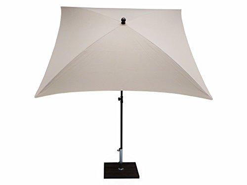 Maffei Art 136q Kronos Parasol carré cm 200x200, Tissu Polyester d'haute qualité imperméable, Made in Italy. Couleur Blanc