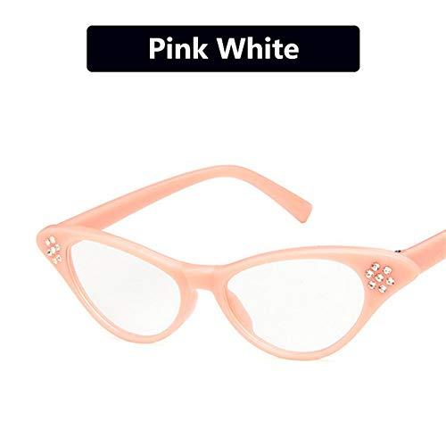 MOJINGYAN Sonnenbrille Cat Eye Sonnenbrille Frauen objektiv Männer Vintage geformte Sun Glas weiblichen Brillen Spiegel Sonnenbrille Rosa Rand Sonnenbrille