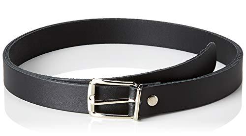 shenky Schmaler Ledergürtel 2 cm breit Gesamtlänge 85 cm bis 130 cm Farbe Schwarz Gesamtlänge 105cm