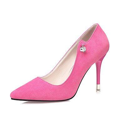 RTRY Donna Comfort Tacchi Suede Cadere Dress Rhinestone Stiletto Heel Mandorla Fucsia Marrone Nero Grigio 3A-3 3/4In US5 / EU35 / UK3 / CN34