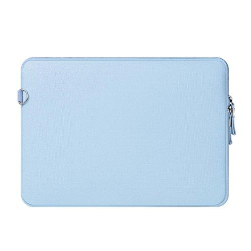 Funda Protectora para 13-13.3 Pulgadas MacBook Air, MacBook Pro/Pro con Pantalla Retina/Ultrabook, Repelente de Agua de Lycra Laptop Manga Bolsa con Un Pequeño Caso,Azul Claro