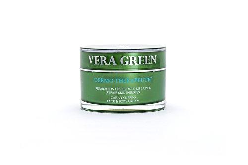 Vera Green. Crema de Aloe Vera Terapéutica para cara y cuerpo. 100% Natural. 50ml.