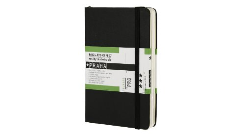 Moleskine City Notebook PRAGUE Couverture rigide noire 9 x 14 cm