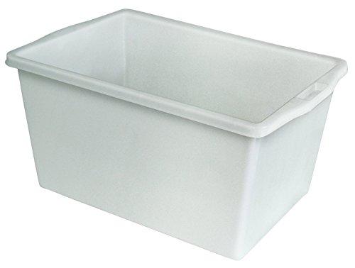 Kunststoffwanne 60 Liter, LxBxH 640 x 450 x 340 mm, weiß, lebensmittelecht