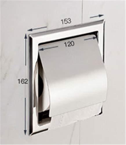 Chrom Tissue Box Cover (Joeesun Einbau Toilettenpapier Gold sus 304 Edelstahl Toilettenpapierhalter Wand WC Rollenhalter Tissue Box Cover Toilettenpapierhalter)