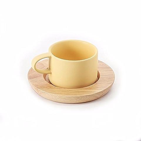 Tasse de café de style nordique set de vaisselle en céramique,Yellow