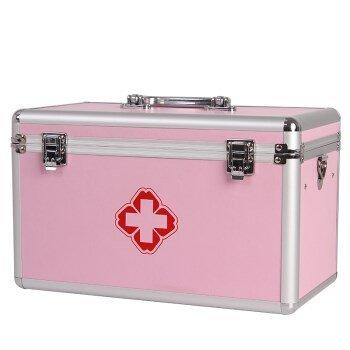 yiyaoxia.g。 Medizin, Aluminiumlegierung Medizin Aufbewahrungsbox home große medizinische box Pulver 11 und 13 Zoll single Lock, Pulver 13 Zoll Double Lock (Metall-lagerung-lock-box)