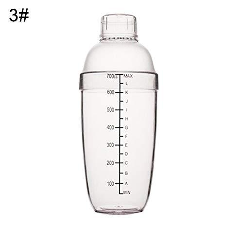 Cocktail-Set, transparenter Cocktail-Shaker, für Wein, Getränke, Saft, Milch, Tee, Bar-Werkzeug 750 ml durchsichtig -