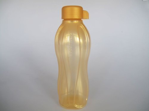 TUPPERWARE Öko-Wasser Saft Flasche Eco GOLD 500 ml Ökoflasche Ecoflasche - Engel Saft