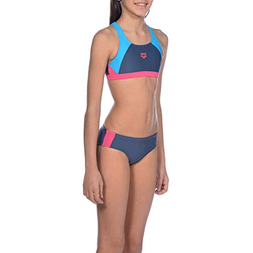 arena Mädchen Sport Bikini Ren, Shark-Turquoise-Freak Rose, 152
