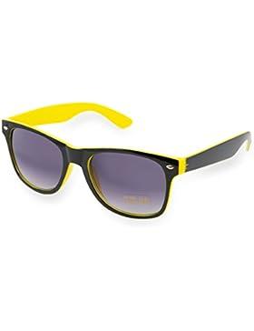 Gafas de sol unisex, estilo retro de los 80, cristales de espejo