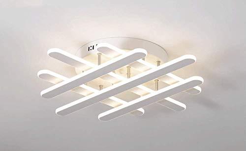 Xiao Fan ▶ Moderne LED Deckenleuchte Dimmable Kronleuchter Einbauküche Acryl Silikagel Chrome Mount Flush 6 Streifen Stil Leuchte mit Fernbedienung für Wohnzimmer Flur ◀ -