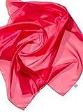Seidentuch rot 90x90cm Ponge05